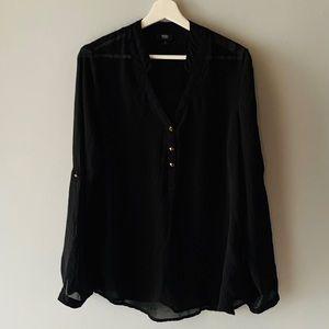 Mossimo Black See-thru blouse